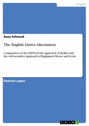 The English Dative Alternation
