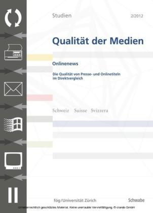 SQM 2/2012 Die Qualität von Presse- und Onlinetiteln im Direktvergleich