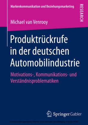 Produktrückrufe in der deutschen Automobilindustrie