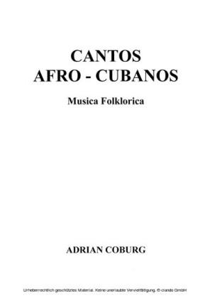 Cantos Afro-Cubanos