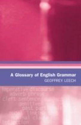 Glossary of English Grammar
