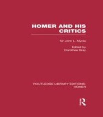 Homer and His Critics