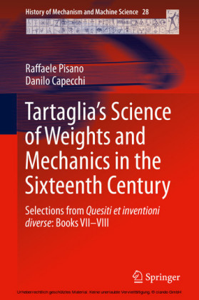 Tartaglia's Science of Weights and Mechanics in the Sixteenth Century
