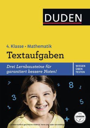 Wissen - Üben - Testen: Mathematik - Textaufgaben 4. Klasse