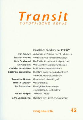 Transit 42. Europäische Revue