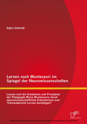 Lernen nach Montessori im Spiegel der Neurowissenschaften: Lassen sich die Annahmen und Prinzipien der Pädagogik Maria Montessoris durch neurowissenschaftliche Erkenntnisse zum Themenbereich Lernen bestätigen?