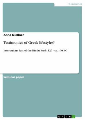 Testimonies of Greek lifestyles?