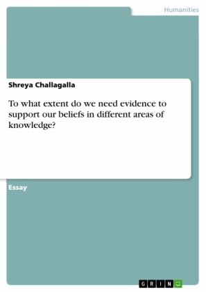 To what extent do we need evidence to support our beliefs in different areas of knowledge?