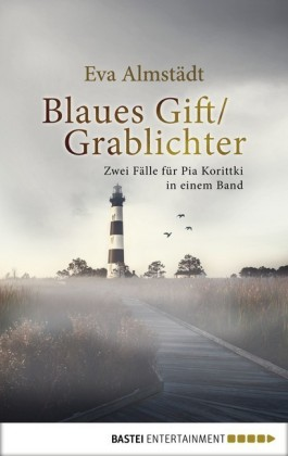Blaues Gift / Grablichter