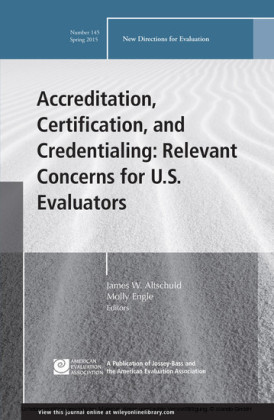 Accreditation, Certification, and Credentialing