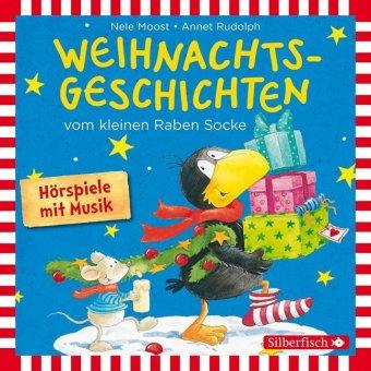 Weihnachtsgeschichten vom kleinen Raben Socke, 1 Audio-CD