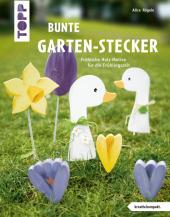 Bunte Garten-Stecker Cover