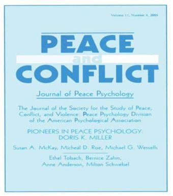 Pioneers in Peace Psychology
