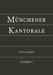 Münchener Kantorale: Lesejahr C, Kantorenausgabe Cover