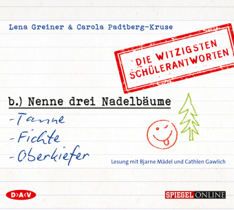 'Nenne drei Nadelbäume: Tanne, Fichte, Oberkiefer', 1 Audio-CD