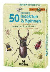 50 heimische Insekten & Spinnen entdecken & bestimmen, 50 Ktn. Cover