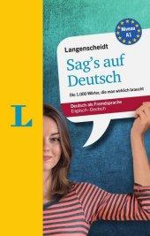Langenscheidt Sag's auf Deutsch Cover