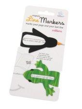 Line Markers Critters - Magnetische Lesezeichen 2er-Set