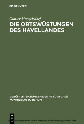 Die Ortswüstungen des Havellandes