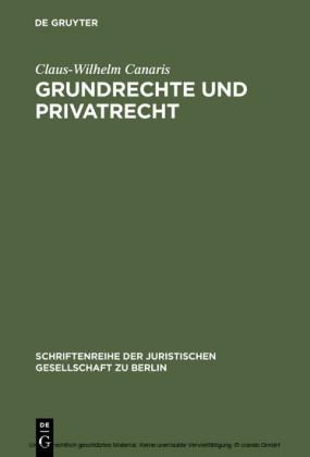 Grundrechte und Privatrecht