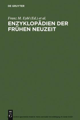 Enzyklopädien der Frühen Neuzeit