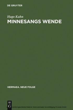 Minnesangs Wende