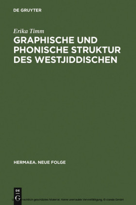 Graphische und phonische Struktur des Westjiddischen