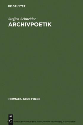 Archivpoetik