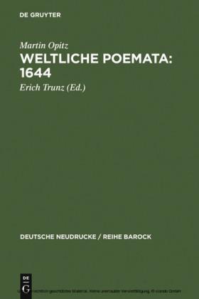 Weltliche Poemata : 1644