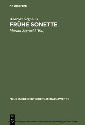 Frühe Sonette