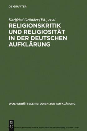 Religionskritik und Religiosität in der deutschen Aufklärung