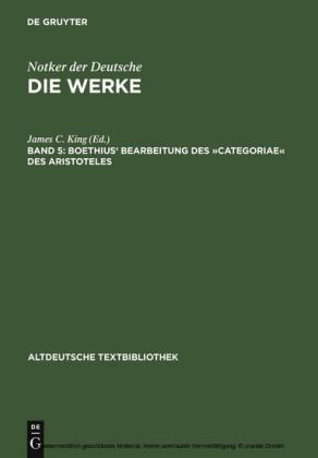 """Boethius' Bearbeitung des """"Categoriae"""" des Aristoteles"""