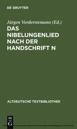 Das Nibelungenlied nach der Handschrift n