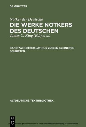 Notker latinus zu den kleineren Schriften