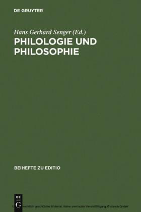 Philologie und Philosophie