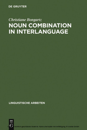 Noun Combination in Interlanguage