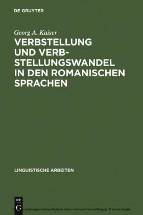 Verbstellung und Verbstellungswandel in den romanischen Sprachen