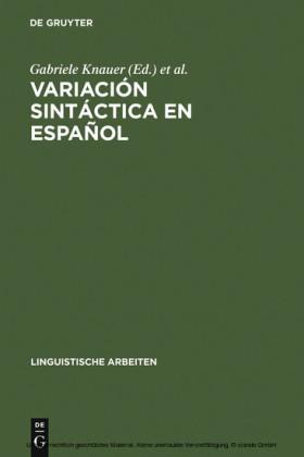 Variación sintáctica en español