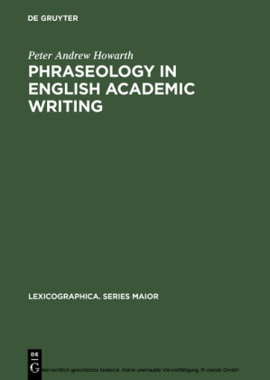 Phraseology in English Academic Writing
