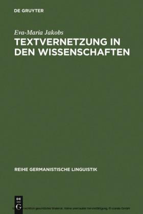 Textvernetzung in den Wissenschaften