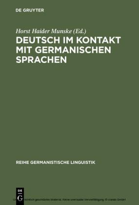 Deutsch im Kontakt mit germanischen Sprachen