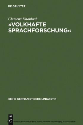 """""""Volkhafte Sprachforschung"""""""