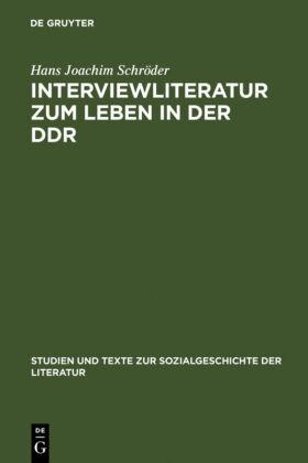 Interviewliteratur zum Leben in der DDR