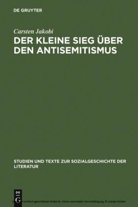 Der kleine Sieg über den Antisemitismus