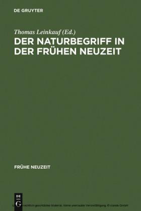 Der Naturbegriff in der Frühen Neuzeit