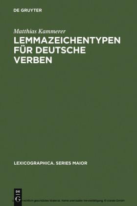 Lemmazeichentypen für deutsche Verben