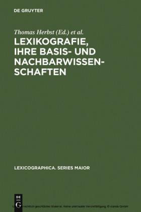 Lexikografie, ihre Basis- und Nachbarwissenschaften