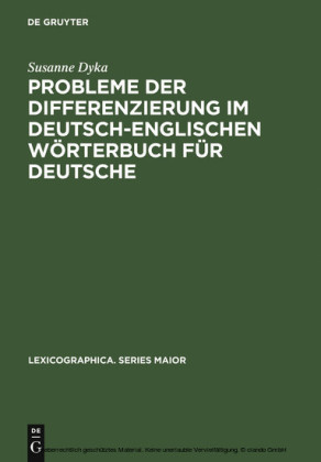 Probleme der Differenzierung im deutsch-englischen Wörterbuch für Deutsche