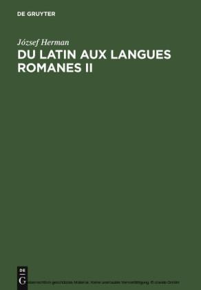 Du latin aux langues romanes II