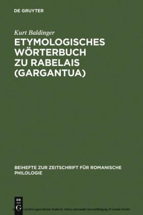 Etymologisches Wörterbuch zu Rabelais (Gargantua)